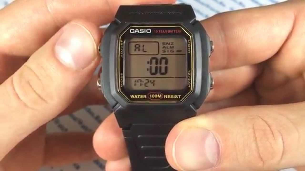 инструкция касио w-96h
