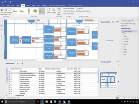 Microsoft Visio Tutorial How To Create A Process Flow