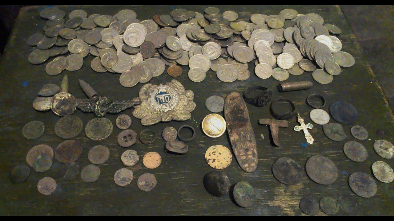 Монеты в обычных , сельских , огородах + клад монет на черда.