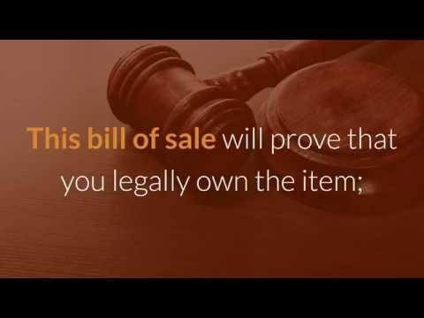 Bill Of Sale Template - How To Prepare A Bill Of Sale Properly?