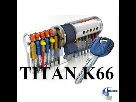Взлом отмычками TITAN  K66  Вскрытие цилиндра TITAN_K66 13PIN (ТИТАН 13 ПИНОВ)