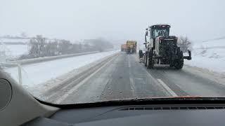 Tekirdağ Malkara yolu kar ile mücadele
