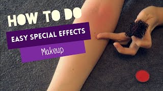 How To Do Easy Special Effects Makeup - Irritated/Dry Skin