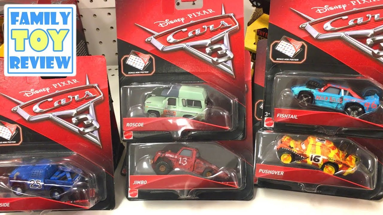 New disney cars 3 toys hunting thunder hollow jimbo roscoe broadside pushover fishtail toy hunt - Coloriage cars 3 thunder hollow ...