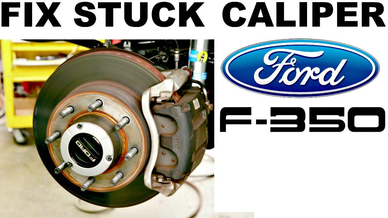how to fix stuck brake caliper ford f250 f350 [ 1280 x 720 Pixel ]