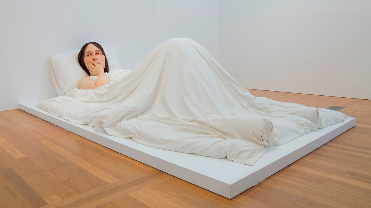 How Did We Install Ron Mueck S In Bed Youtube