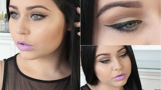Defined Crease & Lavender Lips Makeup Tutorial ♡