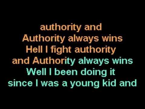 Authority Song John Cougar Mellencamp Karaoke Improvised Hayseed Lyrics CustomKaraoke RARE Custom