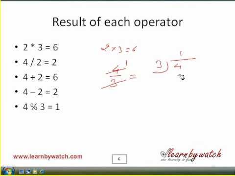 using modulus in c