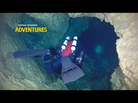 Cave Diving exploring