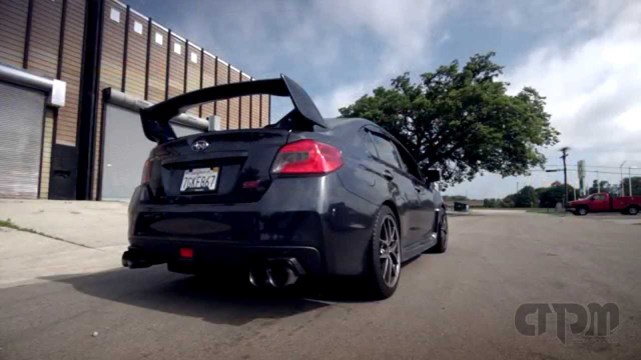 2015 Subaru Sti Custom Apm Axle Back W Titanium Burnt Tips Youtube