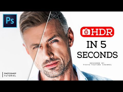 HDR Effect [With A Single Click] - Photoshop Tutorial