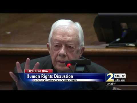 President Jimmy Carter, Bernie Sanders hold forum on human rights
