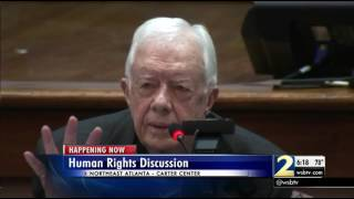 President Jimmy Carter, Bernie Sanders hold forum on human rights