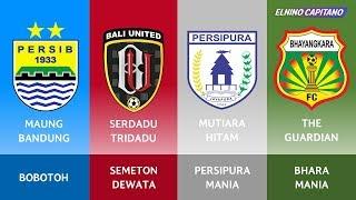 Gambar cover Julukan & Nama Suporter Klub Sepakbola di Liga 1 Indonesia Musim 2017/2018 ● Elnino Capitano