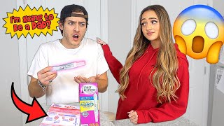 Leaving Out A POSITIVE PREGNANCY TEST... *Cute Reaction*