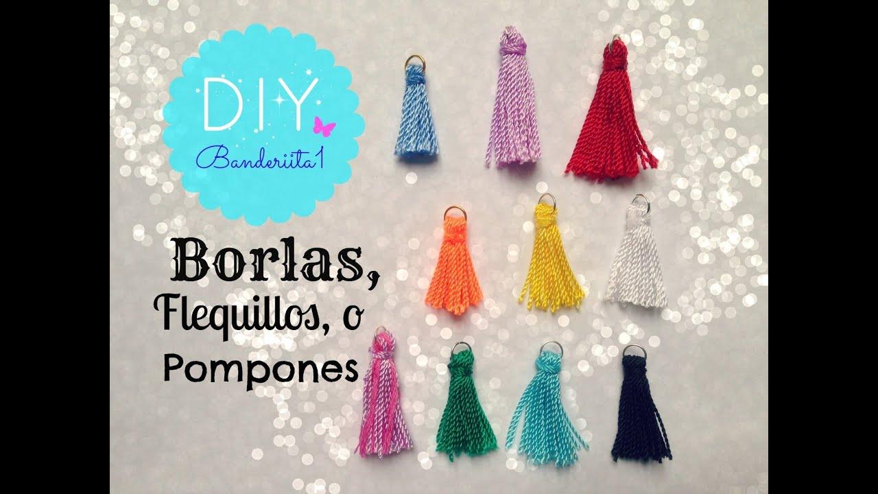Borlas o flequillos tutorial diy youtube - Como hacer pompones con lana ...