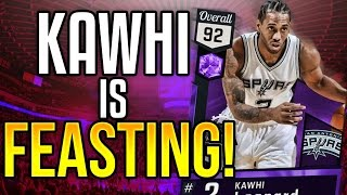 NBA 2K17 MYTEAM AMETHYST KAWHI LEONARD GAMEPLAY! THE HYPE IS REAL!