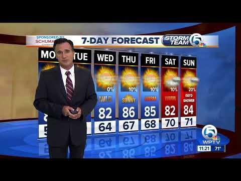 Latest Weather Forecast 11 p.m. Sunday