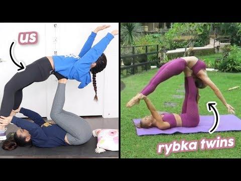 WE COPIED THE RYBKA TWINS' ACRO/YOGA POSES!
