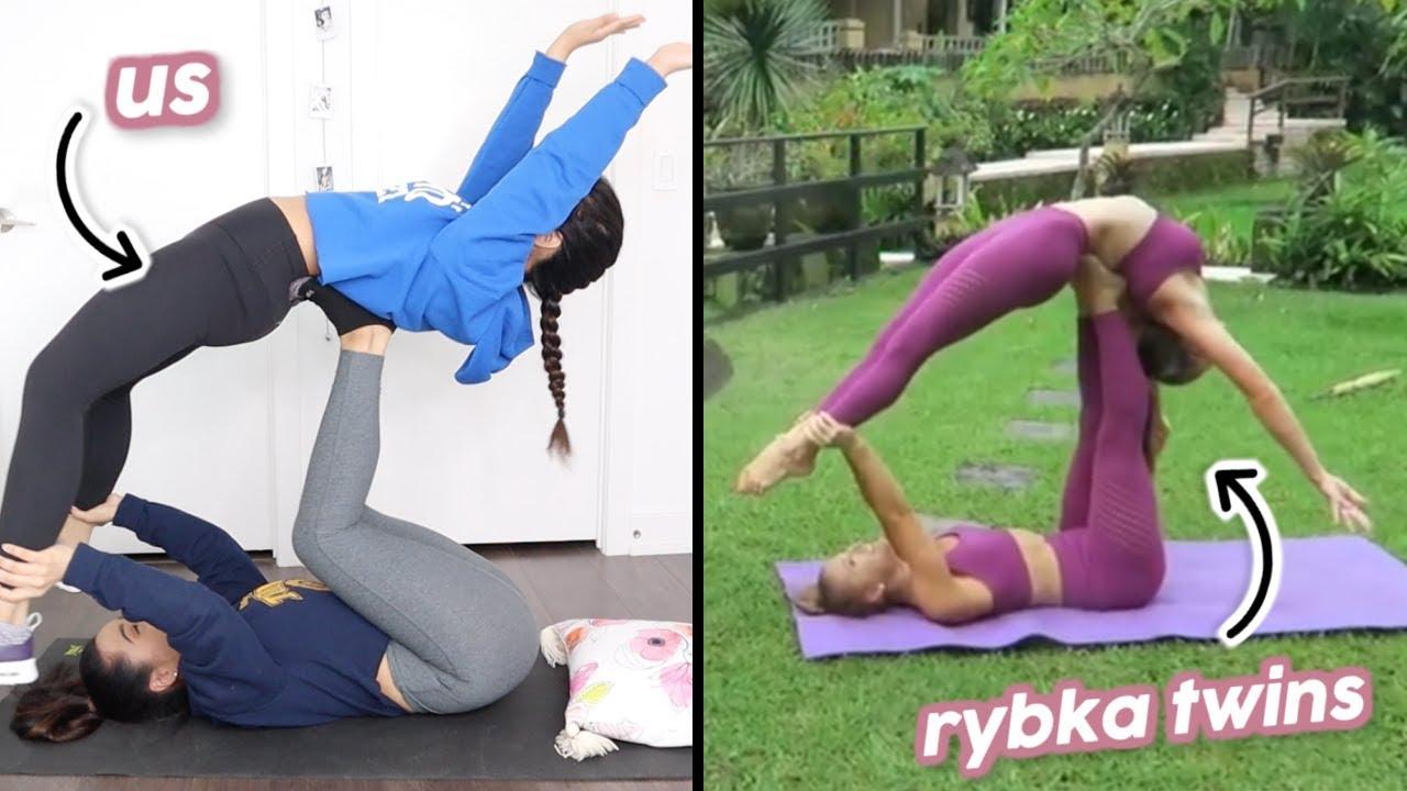 Yoga Poses For 2 Rybka Twins