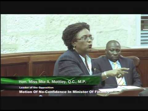 Barbados Opposition Leader - Mia Mottley: Silence is Consent