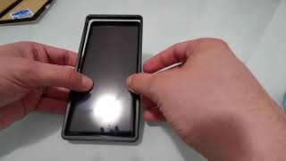 How to perfectly apply a tempered glass screen protector on a Huawei P30 Pro