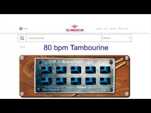 80 bpm tambourine