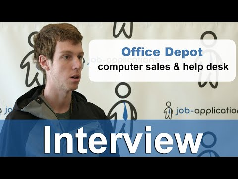 Office Depot Interview - Computer Sales & Help Desk