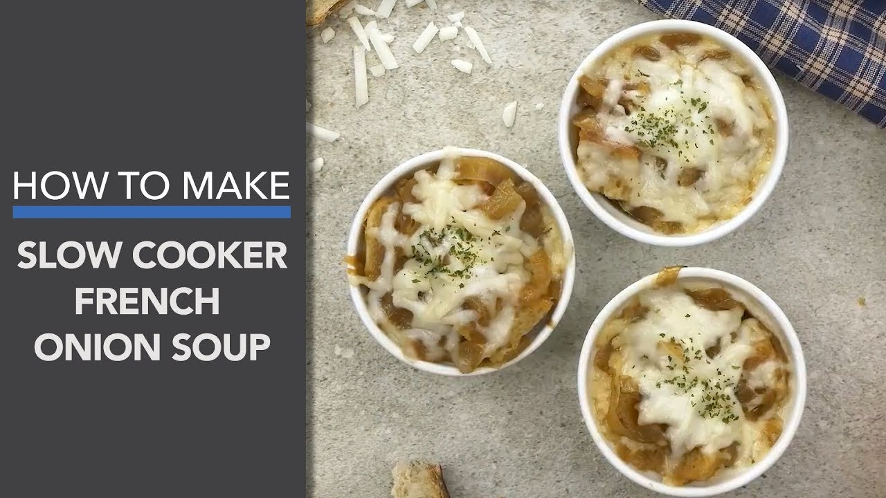 French Onion Soup Recipe A Slow Cooker Recipe Youtube