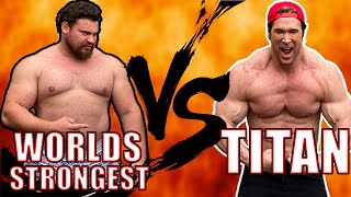 Worlds Strongest Man VS The Titan | Mike O'Hearn | Martins Licis