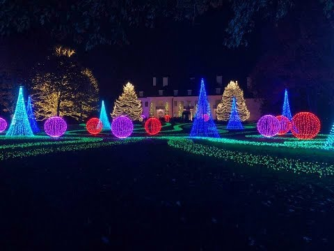 Beautiful Christmas Light Display! Newfields Art Museum