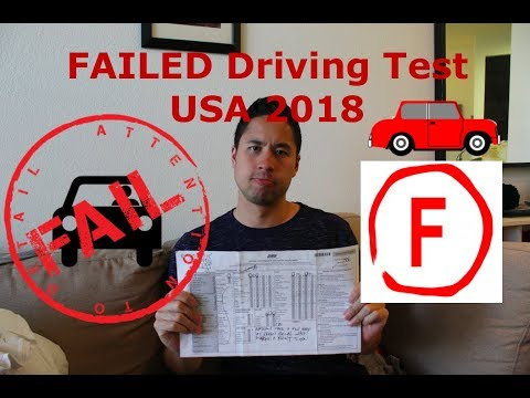 FAILED DRIVING TEST 2018 - Critical Errors and Secrets USA