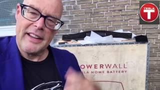 De Installatie mijn Tesla Powerwall die via Eneco Crowdnett