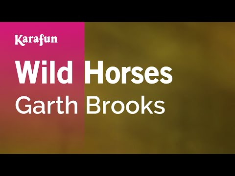Karaoke Wild Horses - Garth Brooks *