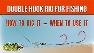 Two Hook Rig or Double Hook Rig (Double Snell) [Catfishing Quick Tips #6]