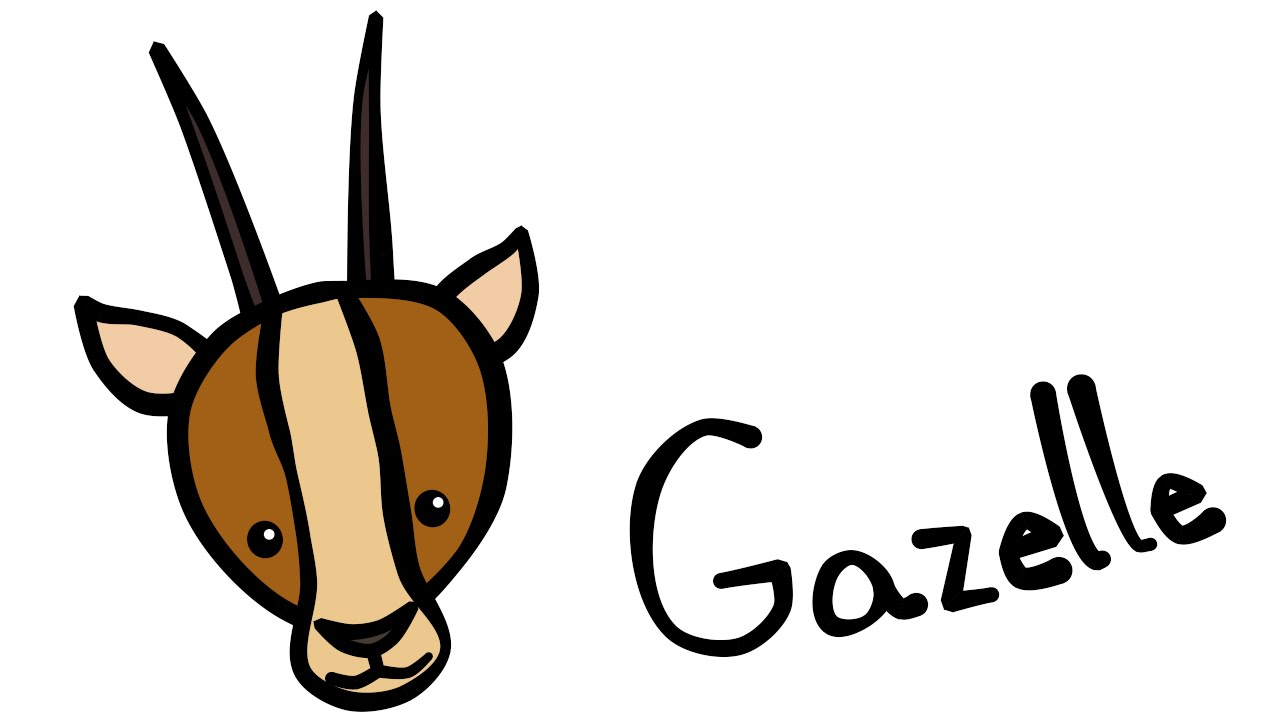 Cute And Quick 20: How To Draw A Gazelle