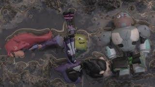 Teen Titans GO! Jump into MUD!! Beast Boy, Cyborg, Starfire, Raven, Robin