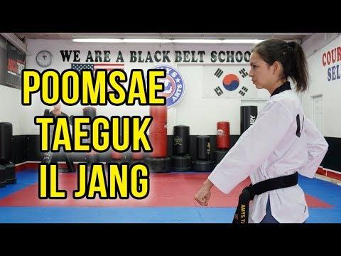 POOMSAE TUTORIAL | Taeguk Il Jang (White Belt Form Taekwondo)