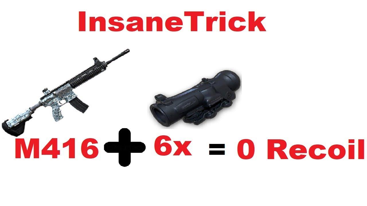 Zero Recoil | M416 with 6x | Insane Trick : PUBG Mobile