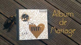 "Album scrapbooking Mariage ""flip thru"""
