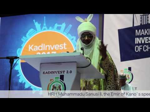 #KADInvest Emir of Kano, HRH Muhammadu Sanusi II Goes Hard on the Major Issues in Kaduna