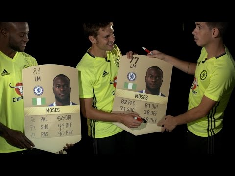 OSCAR, AZPILICUETA & MOSES REACT TO THEIR FIFA 17 STATS!
