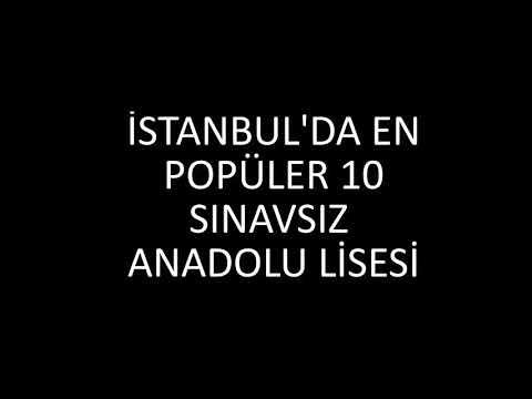 İstanbul'da SINAVSIZ alan EN İYİ 20 anadolu lisesi sıralaması 2018