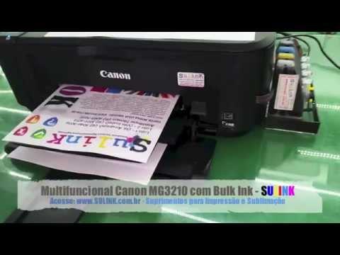 Multifuncional Canon Mg3210 Com Bulk Ink Instalado