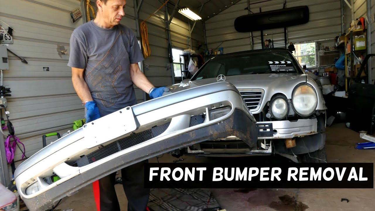 MERCEDES CLK W208 FRONT BUMPER COVER REMOVAL REPLACEMENT  YouTube