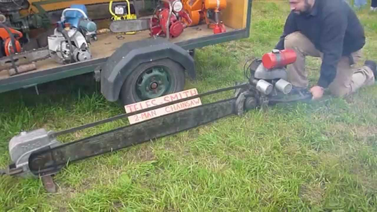 2 Person Saw : Teles smith man vintage chainsaw youtube