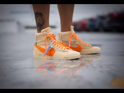 Off-White x Blazer Mid All Hallow Eve AA3832-700 Fabrication Video from  SUPLOOK 74bac72d9