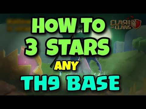 How To 3 STARS Any TH9 WAR BASE   BEST WAR ATTACK REPLAYS   Clash Of Clans