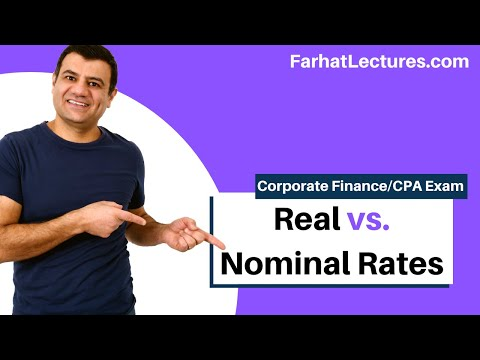 Real Rate | Nominal Rate |  Fisher Effect | Corporate Finance  | CPA Exam BEC | CMA Exam | Chp 7 P 6